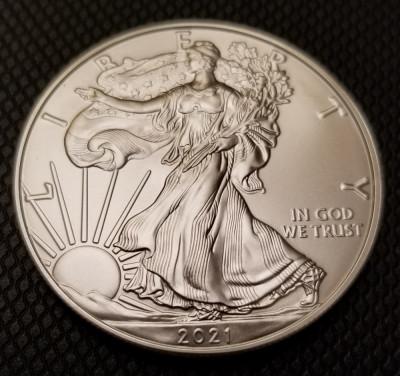 Moneda argint American Silver Eagle 2021 UNC foto
