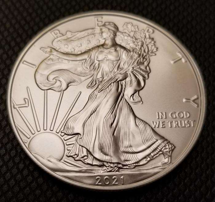 Moneda argint American Silver Eagle 2021 UNC