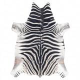 Covor Artificial Cowhide, Zebră G5128-1 alb negru din piele, 100x150 cm