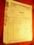 Factura cu Antet Fieraria Centrala SAR 1942 cu 4 Timbre Fiscale si 2xTimbrul Avi