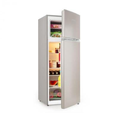 Klarstein Big Daddy L, frigider-congelator, 207 litri, A++, aspect din oțel inoxidabil foto