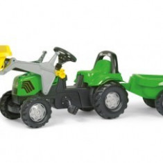 Tractor Cu Pedale Si Remorca 2-6ani ROLLY green, Rolly Toys