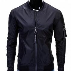 Jacheta pentru barbati, negru, cu fermoar, casual, slim fit - C217