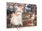 Tablou pe panza (canvas) - John Waterhouse, Song of Springtime, 1913
