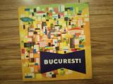 Hartă București RPR, comunism, epoca de aur