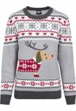 Cumpara ieftin Ladies Sausage Dog Christmas Sweater Urban Classics M EU