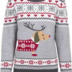 Ladies Sausage Dog Christmas Sweater Urban Classics M EU