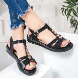 Sandale dama negre Tenilia