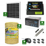 Pachet Gard electric 6,6j putere cu Panou Solar si 1000m de fir 160Kg