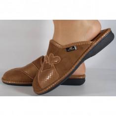 Papuci de casa maro din plus (cod BECKY)