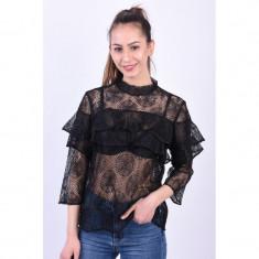 Bluza Eleganta Pieces Rexit 3/4 Black