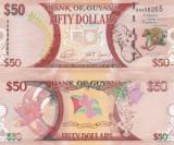 Guyana 50 Dollars 2016 Comemorativa UNC