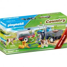 Playmobil Country - Tractor cu rezervor de apa