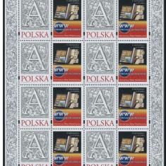 Polonia, magazin filatelic, coala cu 8 viniete, 2010