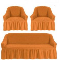 Huse canapea 3 locuri+2 fotolii 311 bumbac elasticizat ,MUSTAR DESCHIS