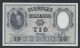 A5141 Sweden Suedia 10 kronor 1959 SEMNATURI DIFERITE aUNC