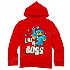 Minecraft hanorac like a boss red 11-12 ani 100% bumbac