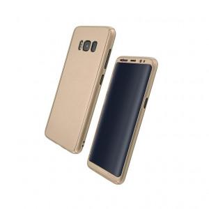 Husa Telefon Plastic Samsung Galaxy S8 g950 360 Full Cover Soft Gold