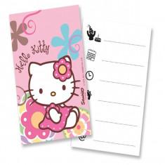 Invitatii petrecere Hello Kitty