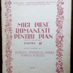 MICI PIESE ROMANESTI PENTRU PIAN, II/1978(G.STEFANESCU-BARNEA/CORNELIA PETRESCU)