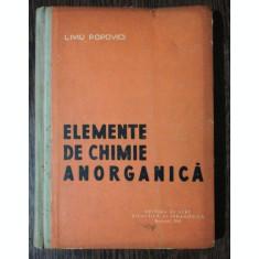 ELEMENTE DE CHIMIE ANORGANICA -LIVIU POPOVICI