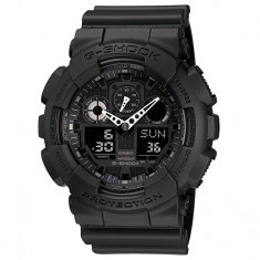 CEAS SPORT CASIO G-SHOCK GA-100 ALL BLACK-NOU-BACKLIGHT-CALITATE PESTE PRET-, Quartz, Cauciuc