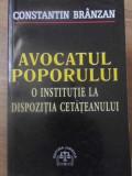 AVOCATUL POPORULUI. O INSTITUTIE LA DISPOZITIA CETATEANULUI-CONSTANTIN BRANZAN
