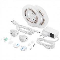 Set 2 benzi LED pentru pat, 260 lm, 4500 K, alb neutru, senzor de miscare inclus