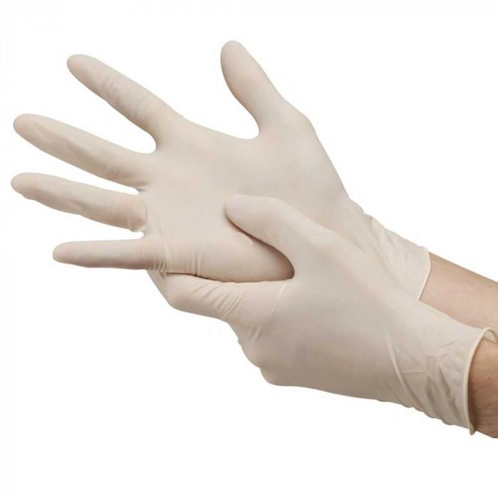 Manusi unica folosinta pudrate latex marimea M