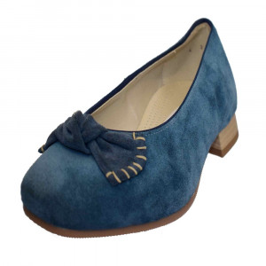 Balerini dama, din piele naturala, marca Jenny Ara, B53725-1, albastru , marime: 37