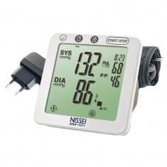 Tensiometru electronic de brat Nissei DSK-1011, memorare 60 de seturi, afisaj LCD
