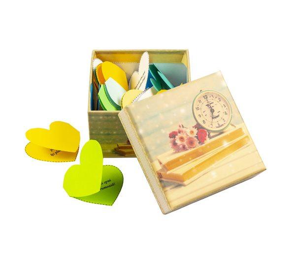 30 Motive Te Iubesc Inimă, mesaje-inima, cutii mini, diverse modele, cadou iubit(a), multicolor