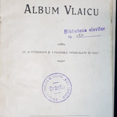 ALBUM VLAICU CU 23 FOTOGRAFII SI 5 FACSIMILE INTERCALATE IN TEXT - ORASTIE, 1920