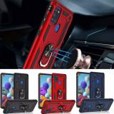 Husa Hybrid ARMOR cu inel rotativ pt Samsung Galaxy A21s , A41, Alt model telefon Samsung, Albastru, Argintiu, Negru, Rosu, Silicon