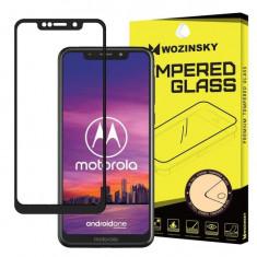 Folie Sticla Super Tough pentru Motorola One 5D Full Cover acopera tot ecranul Full Glue Negru