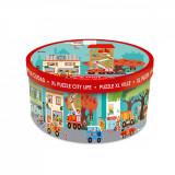 Puzzle de podea Scratch, Viata in oras, 120 piese