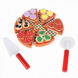 Pizza din lemn, joc de feliat, Oem