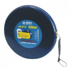 Ruleta lunga cu banda din fibra 50m