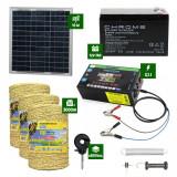 Pachet gard electric cu Panou solar 3,1J putere cu 3000m Fir 160Kg