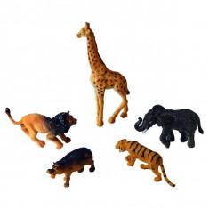 Jucarie Set 5 animale safari din plastic