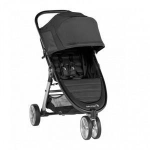 Carucior Baby Jogger City Mini 2 Jet, capotina 3 segmente, maner confortabil, roti detasabile, negru