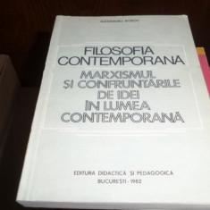 Filosofia contemporana, marxismul si confruntarile de idei in lumea contemporana – Alexandru Boboc
