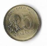 Moneda 5 guaranies 1992 - Paraguay