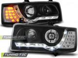 Faruri VW T4 90-03.03 TRANSPORTER DAYLIGHT Negru LED INDICATION