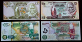 LOT SET 4 bancnote ZAMBIA 2 5 20 1000 KWACHA 1980 - 2009 UNC necirculate **