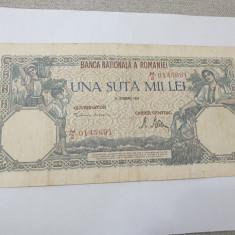 bancnota romania 100000 lei 1946