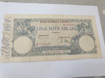 bancnota romania 100000 lei 1946 foto