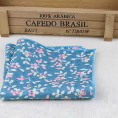 Batista sacou florala albastru bleu alb L'Été indien