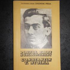 GHEORGHE PREDA - POETUL EROU SUBLOCOTENENT CONSTANTIN T. TOIKA
