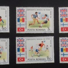 serie timbre CM de fotbal Mexic'86